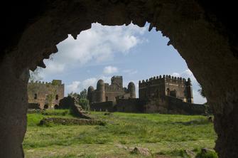 Burgen und Paläste in der ehemaligen Kaiserstadt Gondar in Äthiopien.