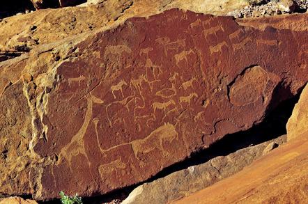 Namibia Gruppenreise - Namibia Kleingruppenreise - Felsmalerei - Twyfelfontein - Namibia