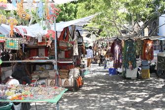 Suedafrika Gruppenreise -Greenmarket Sqaure - Kapstadt - Suedafrika