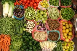 Gemüsemarkt - Yangon - Myanmar