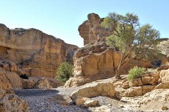 Wanderung im Sesriem Canyon nahe Solitaire in Namibia