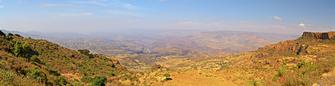 Ende der Trekkingtour in den Semien Bergen in Äthiopien