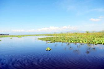 Lake Naivasha, der höchste und schönste See im Rift Valley in Kenia.