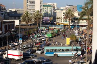 Stadtmitte der Hauptstadt Nairobi in Kenia.