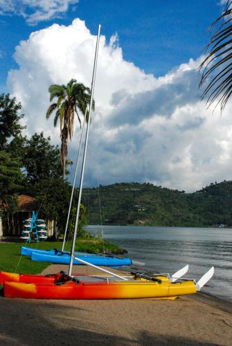 Strand am Lake Kivu in Gisenyi in Ruanda