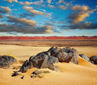 Namib Desert in Namibia.