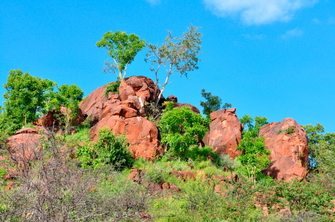 Landschaft im Waterberg Nationalpark in Namibia