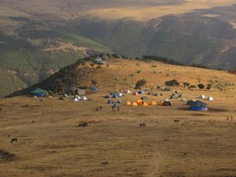 Wanderung auf den höchsten Berg Äthiopiens dn Rash Dashen.