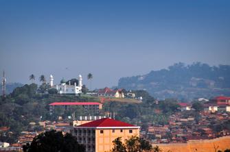 Innenstadt von Kampala in Uganda