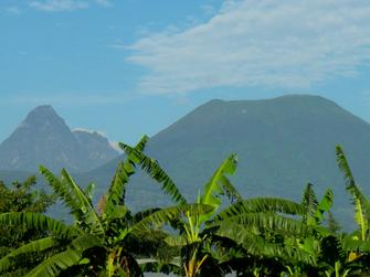 Virunga Berge im Ruhengeri Gebiet in Ruanda