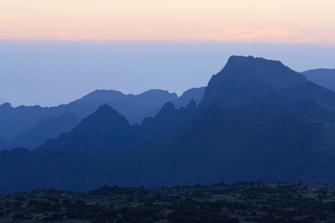 Blick vom Shira Plateau in Tansania