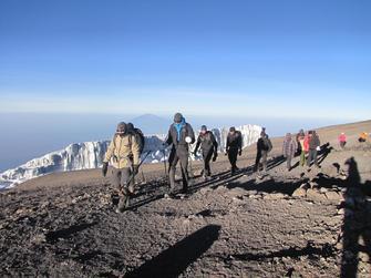 Wandern auf dem Kilimanjaro in Tansania