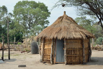 Traditionelles Leben der Mafwe im Historical Living Village in Botswana