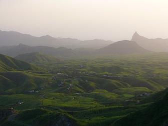 Die Landschaft im Paul-Tal auf den Kapverden