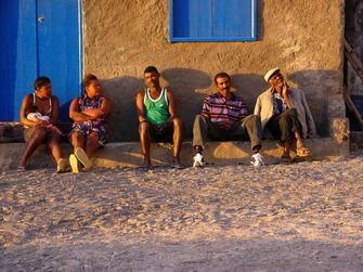 Fischer in Faja d' Água auf den Kapverden