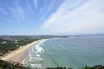 Strand von Plettenberg Bay in Südafrika