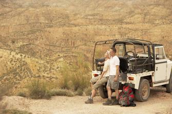 Safari mit dem Geländewagen imMthethomusha Private Game Reserve in Südafrika