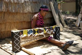 Kultur der Zulu in Zululand in Südafrika