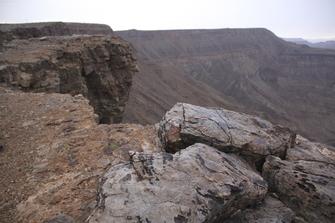 Der Fish-River-Canyon, der zweitgrößte Canyon der Welt, in Namibia