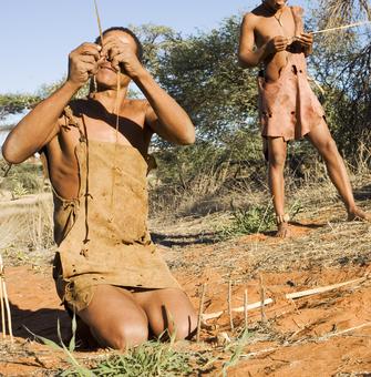 San Buschmänner - Kalahari - Namibia