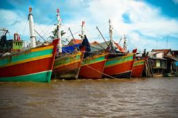 Vietnam Gruppenreise -Vietnam Rundreise - Schiffe - Mekongdelta