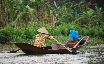 Vietnam Rundreise -Boot auf dem Mekong - Mekong