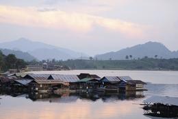 Flusssiedlung - Mekong - Thailand