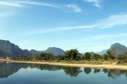 Mekong Fluss - Vang Vieng - Laos.