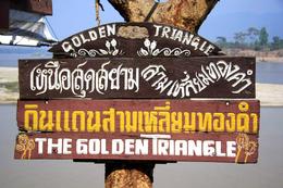 Schild - Das Goldene Dreieck - Thailand