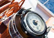 Kompass an Bord der Rhea